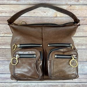 Chloe Betty Brown Leather Hobo Shoulder Bag Purse
